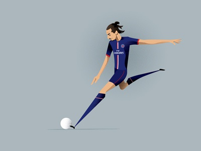 Zlatan Ibrahimović illustration zlatan ibrahimović illustration psg football soccer paris saint germain vector