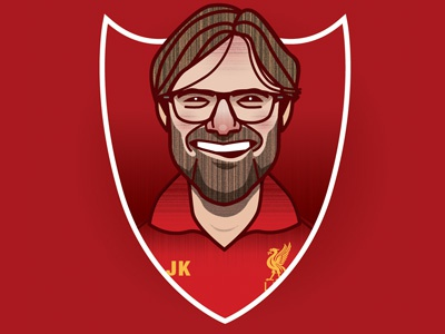 Jurgen Klopp portrait illustration soccer football lfc manager liverpool jurgen klopp