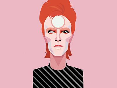 David Bowie portrait vector illustration legend music bowie david bowie