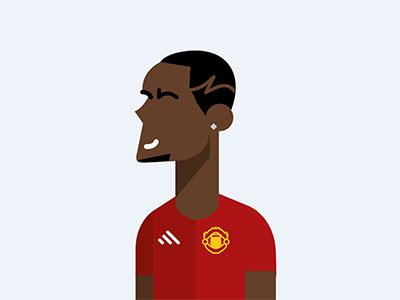 Pogba WIP vector illustration soccer football man utd mufc manchester united paul pogba pogba