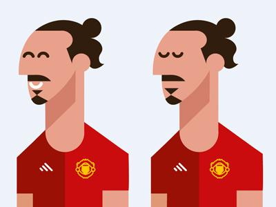 Zlatan WIP sweden vector illustration soccer football manchester united man utd mufc zlatan
