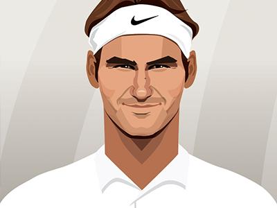 Roger Federer By David Flanagan On Dribbble