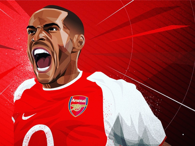 Thierry Henry for Arsenal F.C. illustration premier league arsenal thierry henry soccer football