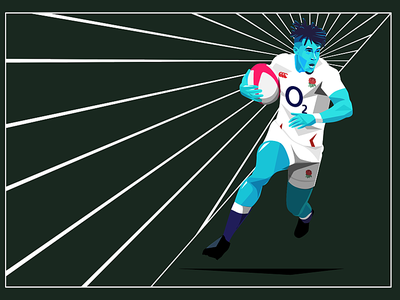 England Rugby experiment watson england neon vector illustration rugby