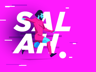 Mo Salah experiment neon typography vector illustration mo salah soccer football