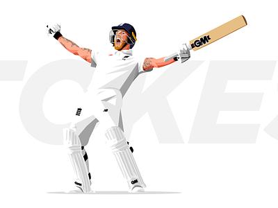 England Cricket england illustration ben stokes vector sport cricket