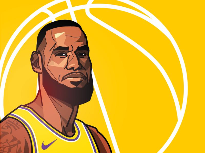 LeBron NBA experiment vector illustration lakers basketball nba lebron