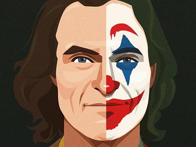 Joker portrait vector batman illustration film joker