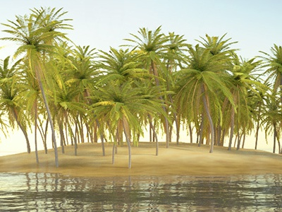 Island In Blender 3D by Adam Tao on Dribbble