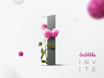 Invite dribbble giveaway invitation typography ux ui web design landing page roses design best shot photoshop invite invite giveaway