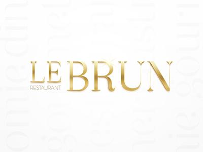 Lebrun - logo restaurant paris restaurant menu design visit card visual identity logotype art direction packaging logo