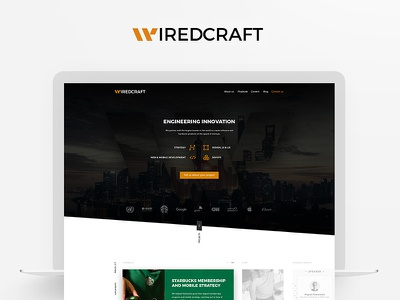 Wiredcraft - Web design - web agency interface design user experience home page landing page art direction web design logo ui ux logotype