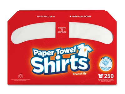 Paper Towel Shirts - Packaging design