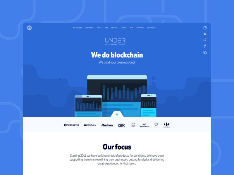 Udevoffice website design business identity branding rebranding vector typography ui flat design website design website design