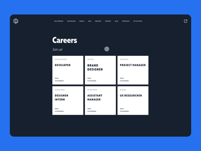 Udevoffice interaction auto-animate adobe xd ux branding design website ui simple clean interface careers page hover state interaction animation hover interaction