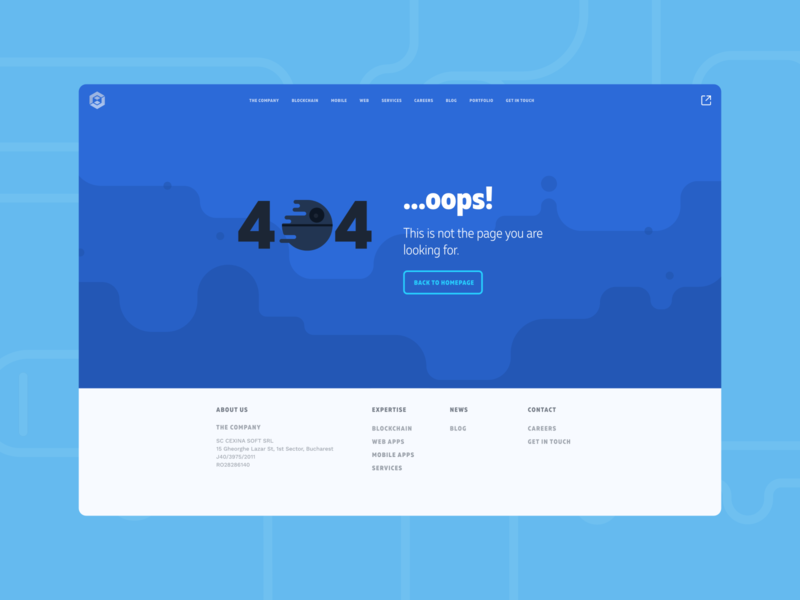 Udevoffice website design - 404 page ui design blue vector branding flat website concept website design webdesign website 404 error page 404