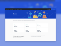 Careers page and hero illustration