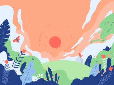 Underwater sunset
