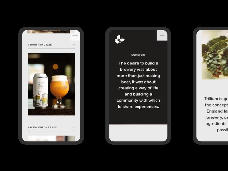 Trillium Website boston designer ux brewery website design