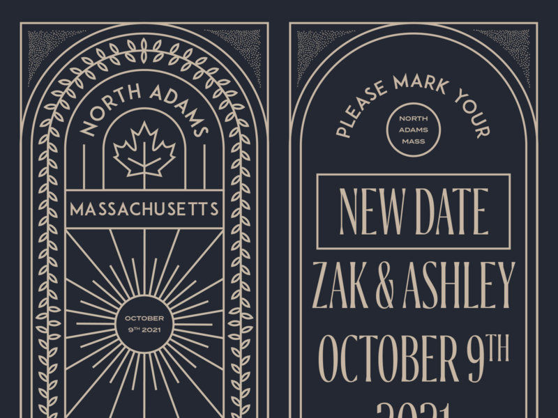 New Save the Dates vector illustration lineart print design invitation save the date