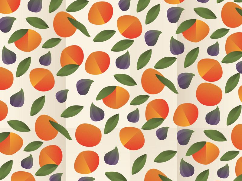 Figs & Citrus fruit illustration