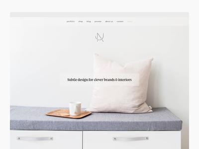 Website for Design Studio Nu