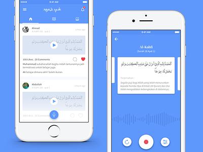 Ngaji Yuk - Social Media App Design Concept ios inteface app design app concept ux ui social media