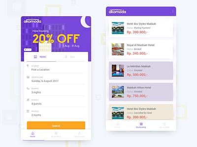 Hotel Booking App hotel search icon design ui design app design booking hotel