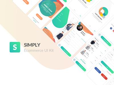 Simply Ecommerce UI Kit sketch freebie freebie ui kit freebie ecommerce concept mobile design uiux ux ui app design ecommerce e-commerce ui kit