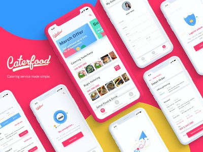 Caterfood UI Kit for Catering Service sketch ui kit freebie ui kit freebie mobile design uiux ux ui app design iphone x app food ui kit catering ui kit ui kit