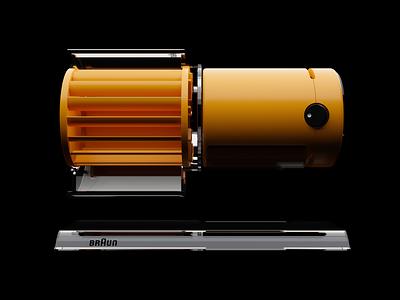 Braun HL 70 I hl70 hl-70 gestalt rams dieter concept product design industrial design hard surface cinema4d fusion 360 c4d blender 3d fan dieter rams braun