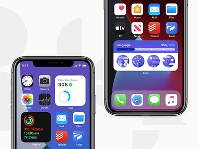 Peak iOS 14 Widgets 📊 statistics stats iphone apple prototype ios14 widgets homescreen profile progress graphic figma widget 14 ios peak