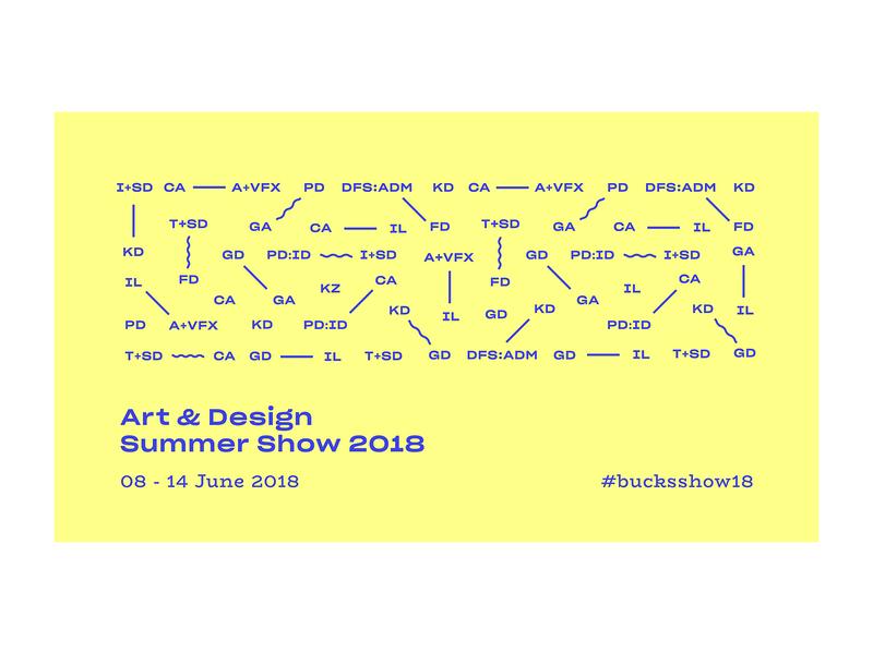 Art & Design Summer Show 2018 shapes pattern layout art direction ui typography art graphic design banner event branding exhibition