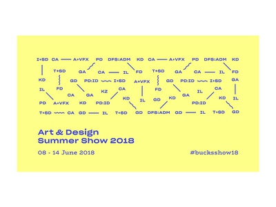 Art & Design Summer Show 2018 shapes pattern layout art direction ui typography art graphic design banner event branding exhibition