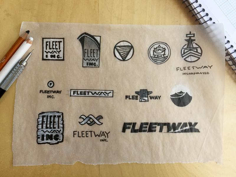 4-hour logo sketches shipping ship negative space logo branding lettering illustration