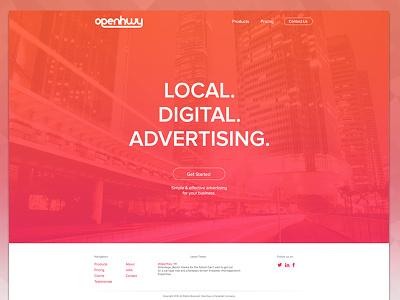 Openhwy homepage update. update openhwy clean minimal fresh