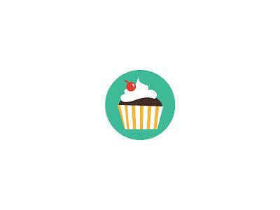 Cupcake Vector Icon [Download] vector cupcake spring color light desert illustrator free freebie