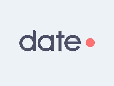 Datepoint Logo logo design photoshop vector illustrator subtle light colors