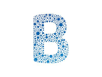 Letter B letter b letter vector design bubbles
