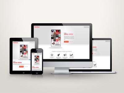 Openhwy Responsive Design openhwy advertising social media responsive photoshop orange light