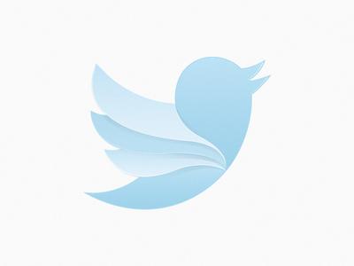 Twitter Wings vector process twitter blue wings