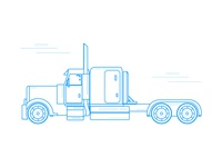 Old School Truck Frame Illustration