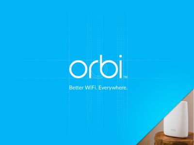 Orbi Logo Design lifestyle process sketch simple blue logo netgear orbi