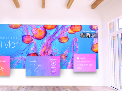Augmented Reality (AR) Shot ui vibrant blue gradient jellyfish colorful photoshop sketch vr ar virtual reality augmented reality
