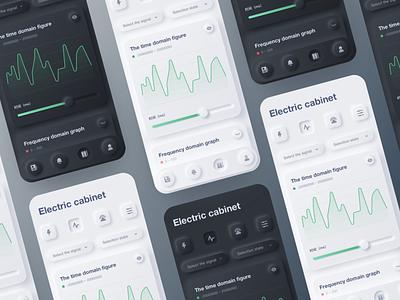 Electric cabinet financial apple design ui app