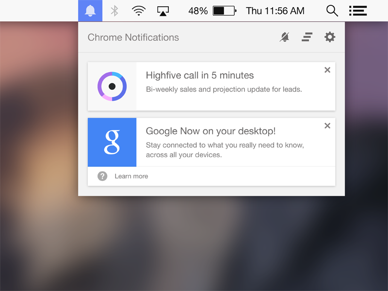 Chrome Notifications ui ux interactive design interface design product design