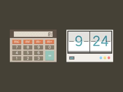 Calculator   clock