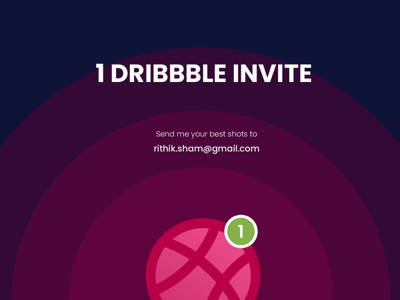 1 Dribbble Invitation one good luck winner best work trend karthik dribbble invite ux creative friends invitation