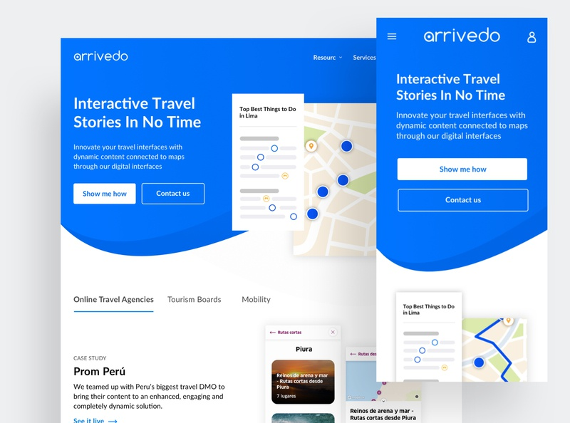 Arrivedo - interactive stories on a map
