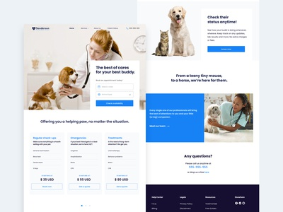 Sanderson Veterinary Clinic Home Page.